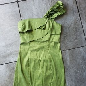 Alyn Paige green cocktail dress